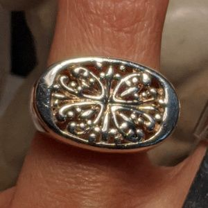 Big Bold Solid Sterling Silver Bali Tribal Ring
